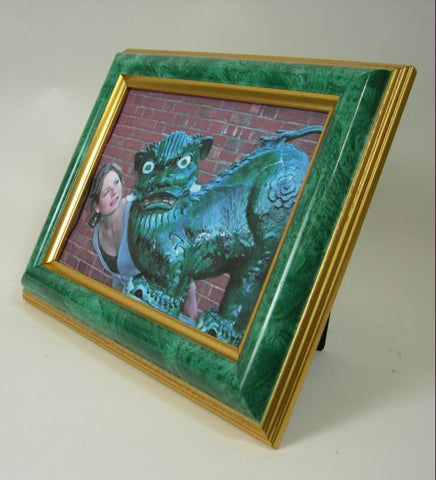 PH1280 5x7 Jade and Gold Polymer Photo Frame