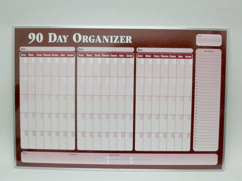 CO 90 DAY ORG Red Planner
