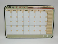 CO 30 DAY DESIGN Tan Horizontal Planner