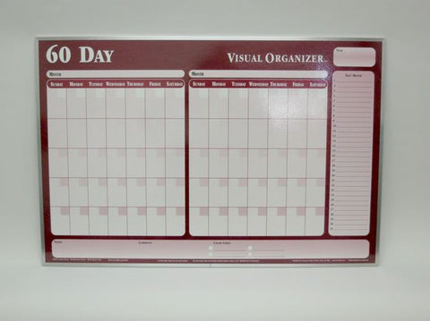 CO 60 DAY ORG Red Planner