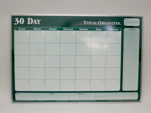 CO 30 DAY ORG Dark Green Planner