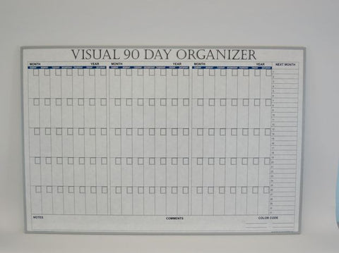 CO 90 DAY VISUAL ORG White Planner