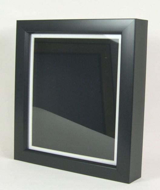 "SBM1038 Black Polymer Shadow Box, 1"" Deep"