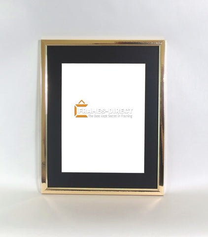 SM1137 11x14 Matted Gold Polymer Certificate Frame