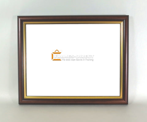 AW9272 8.5x11 Walnut with Gold Lining Wood Frame