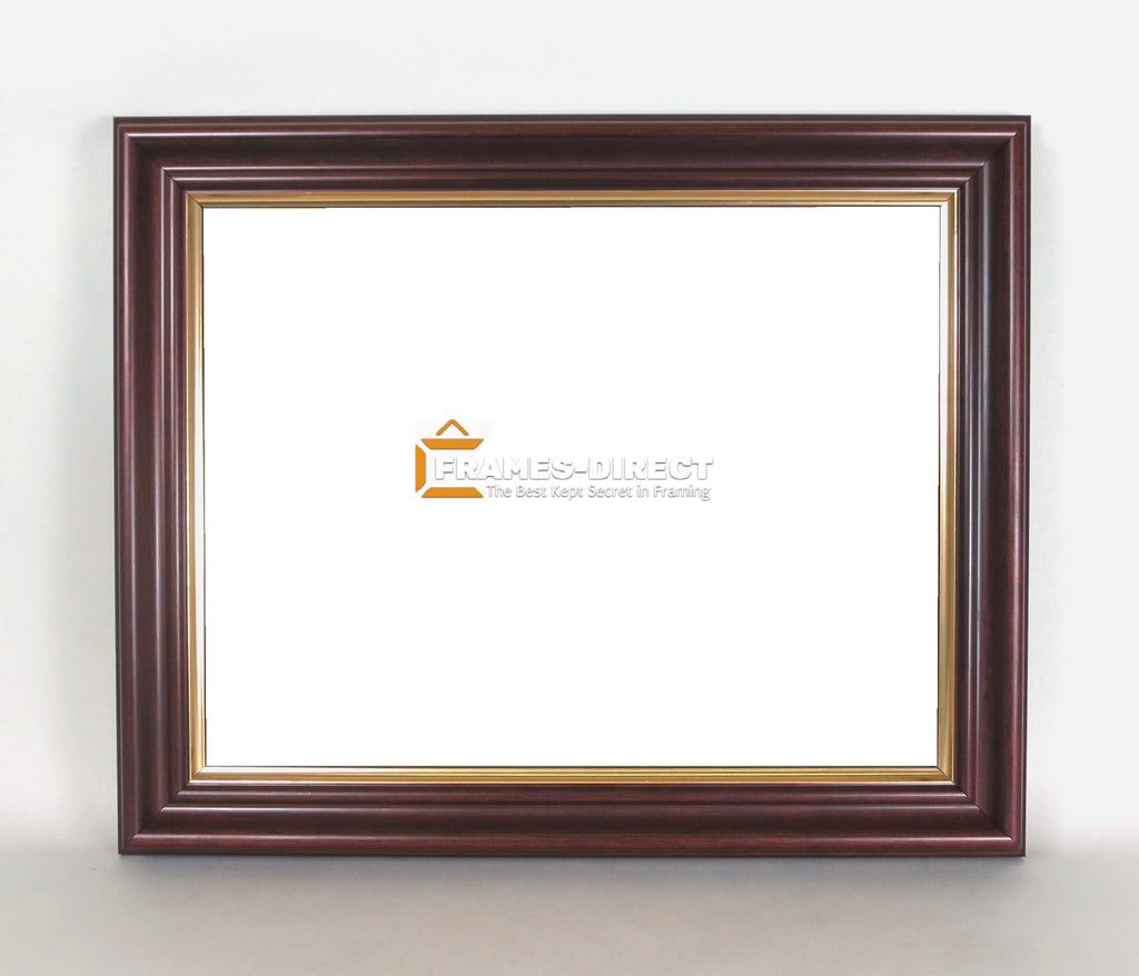 AW8600 8.5x11 Mahogany and Gold Wood Award Frame