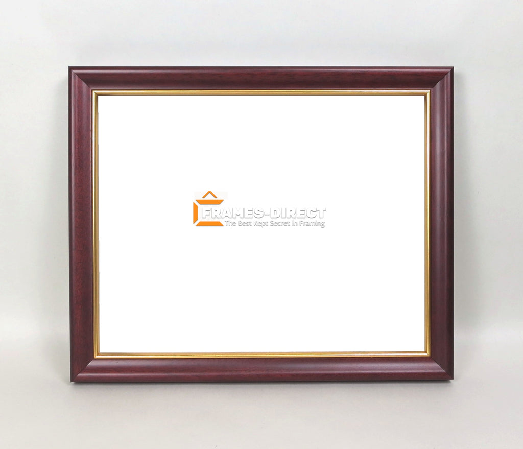 PH5464 8x10 Mahogany Frame with Gold Trim