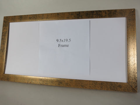 "SM1234 - Antique gold - 9.5x19.5"" sign frame"