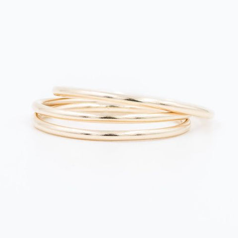 14k Skinny Stacking Ring