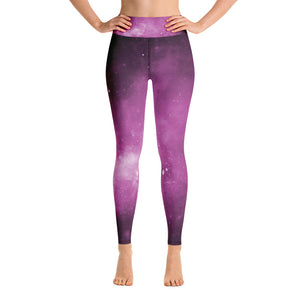 Magenta Universe Yoga Leggings