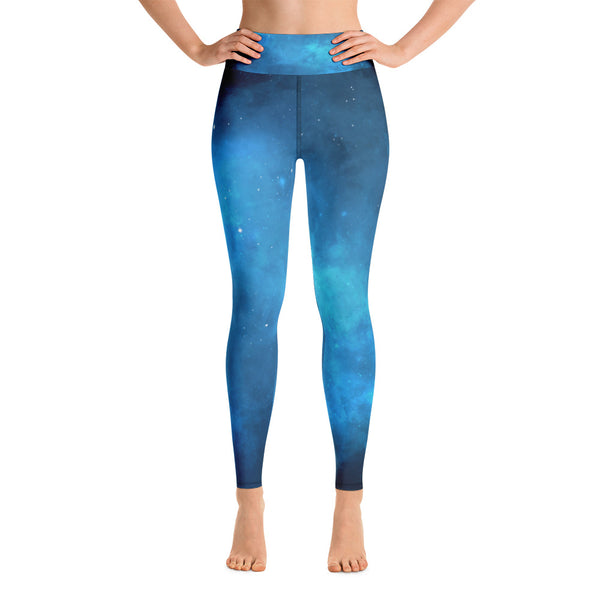 Blue Universe Yoga Leggings