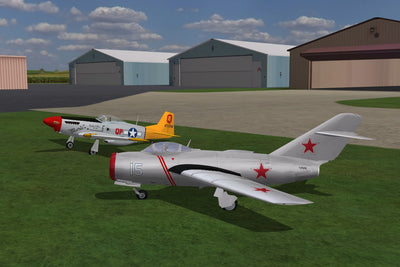 Image of MIG 15 and P-51