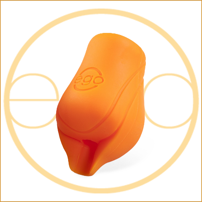 EGO Silicone BioGrips (Large) in Orange without back lip - Up to 19MM Tubes