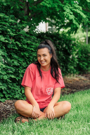 Pink Melon Short Sleeve Pocket Tee