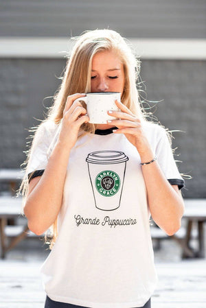 Load image into Gallery viewer, Grande Puppacino Ringer Tee
