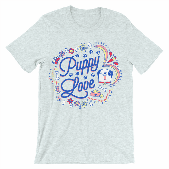 Puppy Love Graphic Tee - BABY BLUE