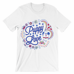 Load image into Gallery viewer, Puppy Love Graphic Tee - WHITE
