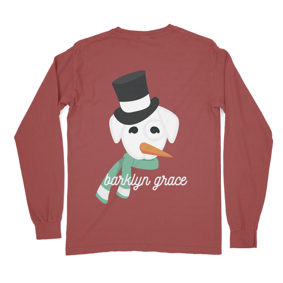 Barklyn The Snowman Long Sleeve Pocket Tee