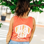 Coral Striped Pocket Tank