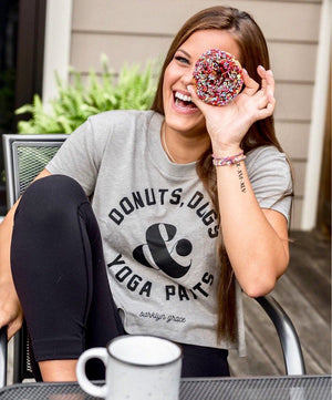 Donuts, Dogs & Yoga Pants - TAN