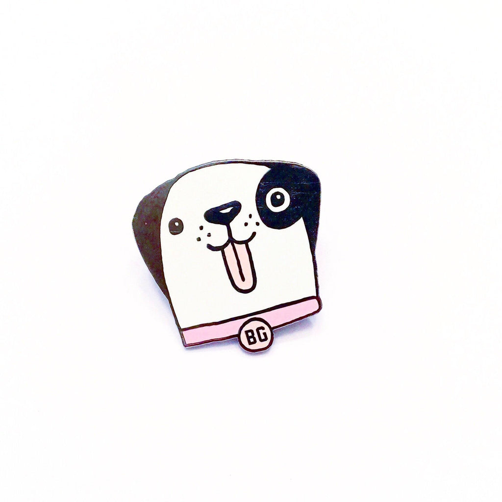 BG Dog Enamel Pin - SILVER