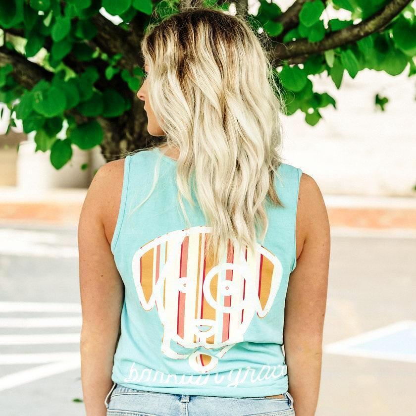 Mint Green Striped Pocket Tank