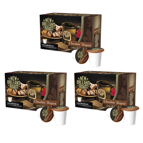 Chocolate Beignet Single Serve Cups (3-Pack / 12 Count)