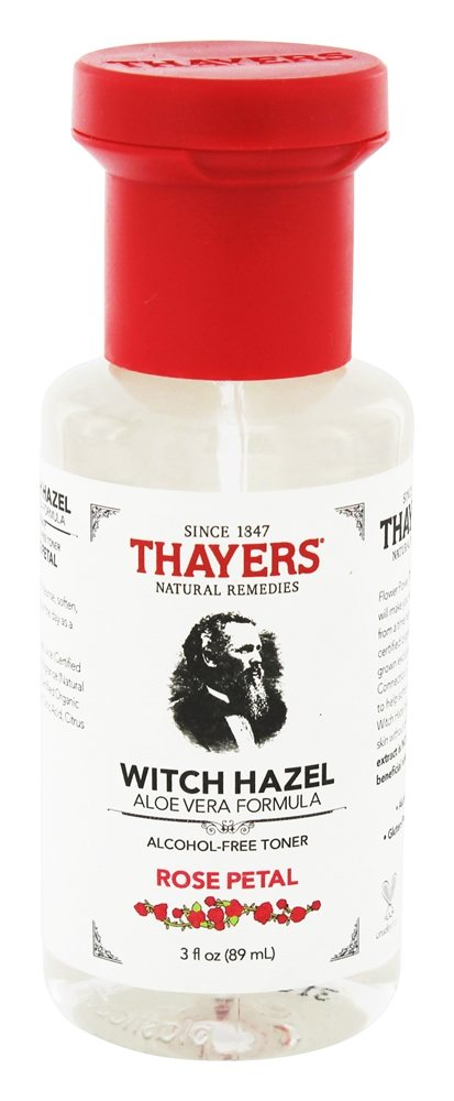 Thayers Alcohol-free Rose Petal Witch Hazel with Aloe Vera, 3 oz