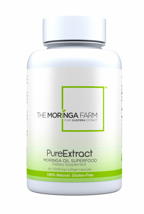 The Moringa Farm PureExtract Leaf and Seed Oil (60 Veggie Softgels)