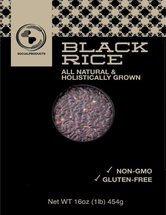 Social Products Mindanao Heirloom Black Rice 16oz