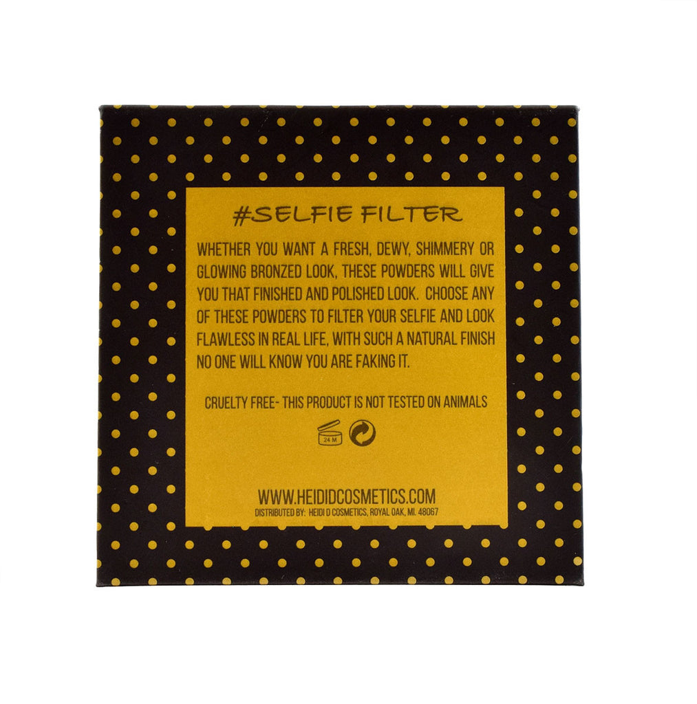 #SELFIEFILTER- EMPTY REFILLABLE COMPACT - www.heididcosmetics.com