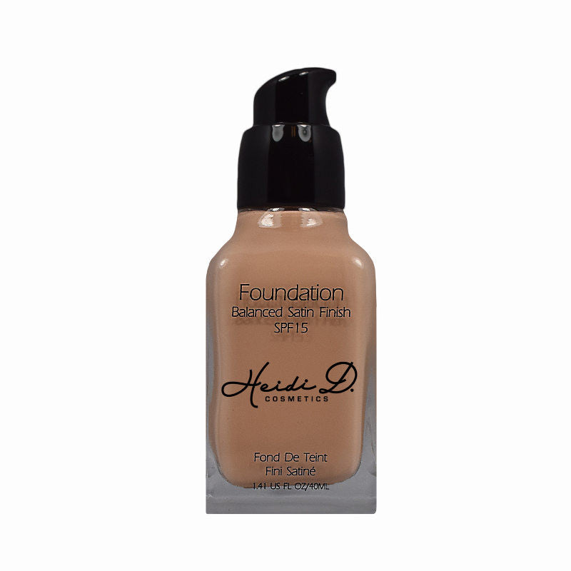 SATIN FINISH FOUNDATION - www.heididcosmetics.com