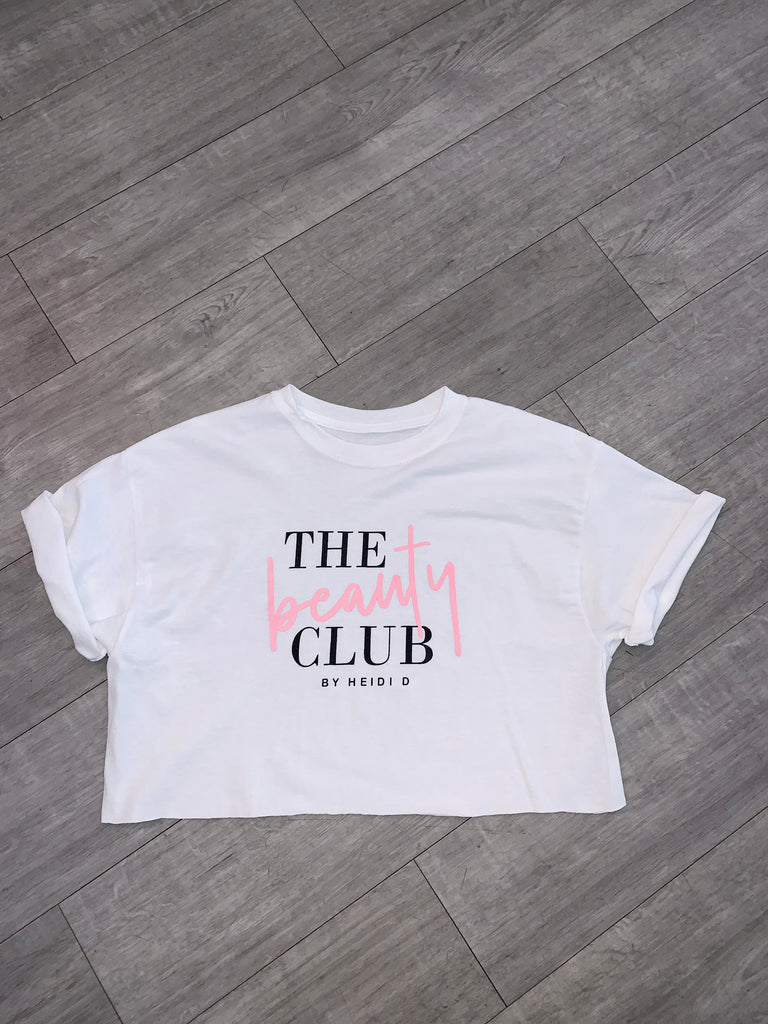 Cropped Beauty club Tee shirt