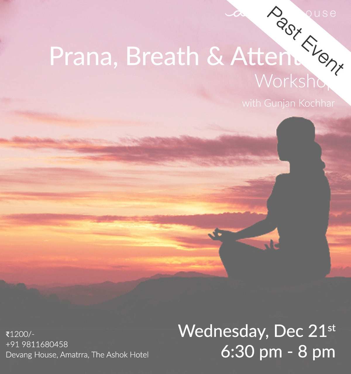 Prana, Breath and Attention Workshop