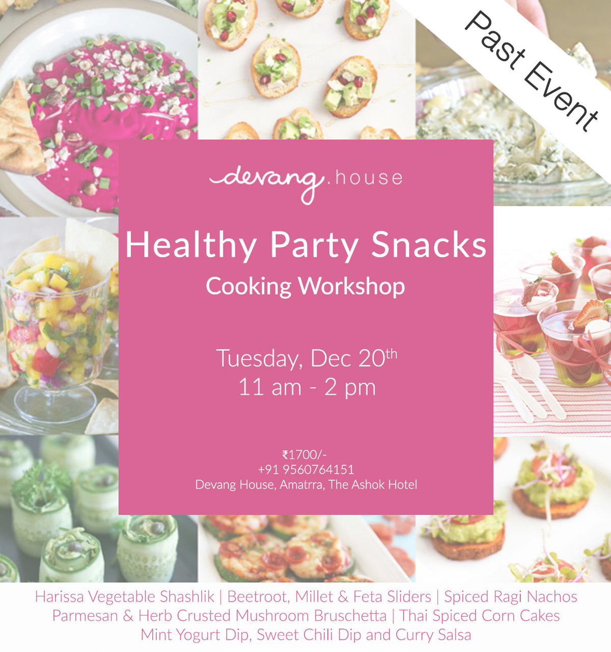 Healthy Party Snacks - Cooking Workshop