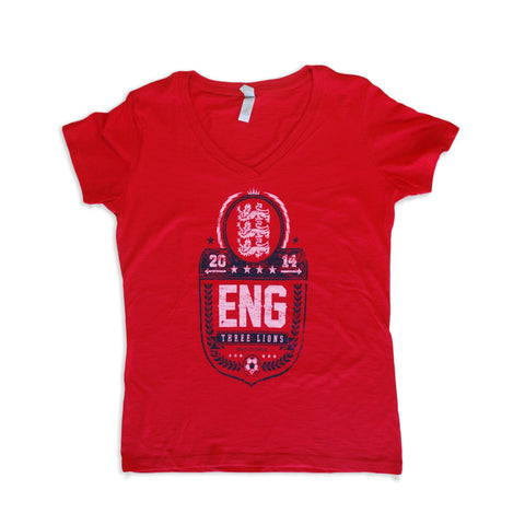 World Cup 2014 England - Women's V-Neck Tee