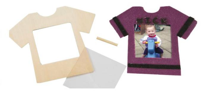 DIY Wooden T-Shirt Photo Stand Craft Kit