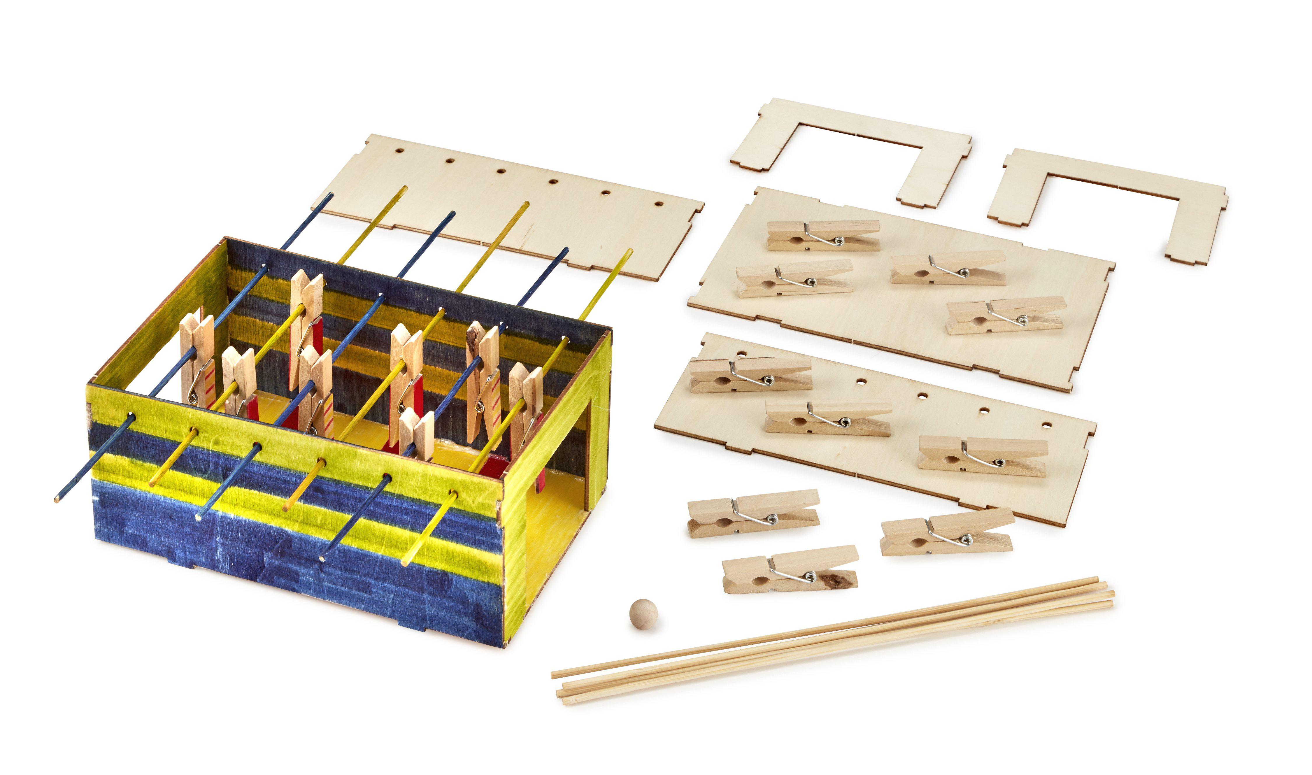 DIY Wooden Foosball Game Craft Project