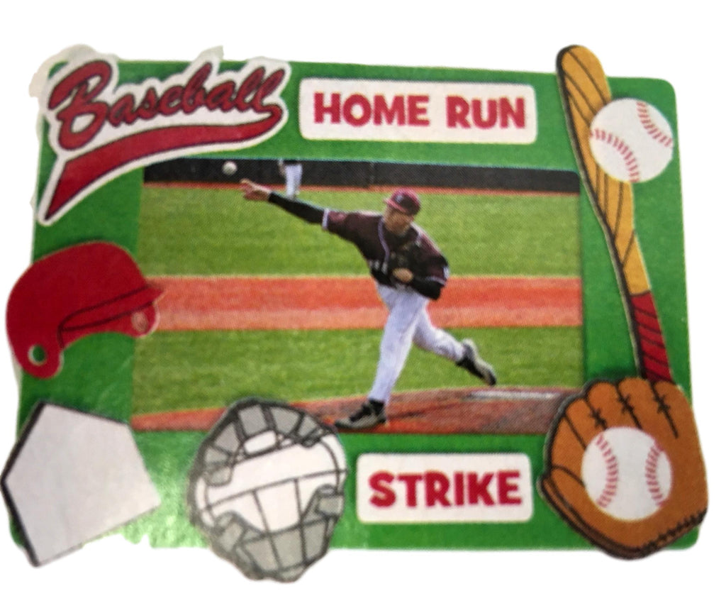 Foam Baseball Picture Frame