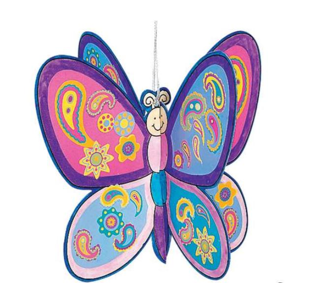 DIY 3D Butterfly Ornaments