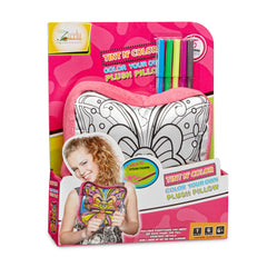 Zirrly's Tint N' Color Cartoon Pillow, DIY Craft Kit,