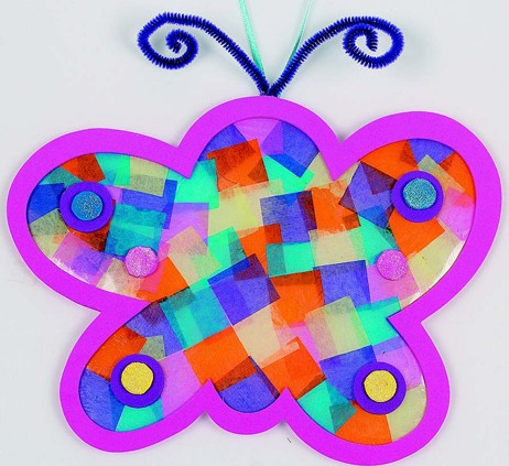 Tissue Butterfly Ornament