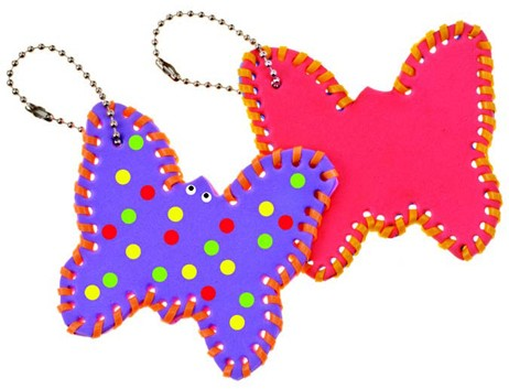 Butterfly Lace Up Key-Chains