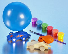 DIY Wooden Balloon Race Car Craft