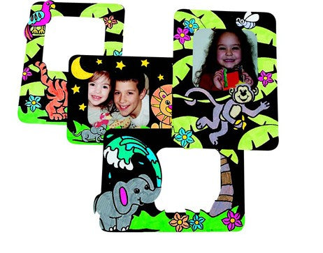 Zoo Animals Velvet Picture Frames