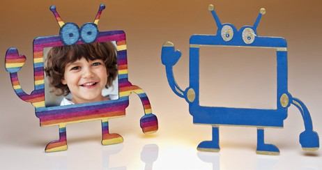 DIY Robot Picture Frames Craft