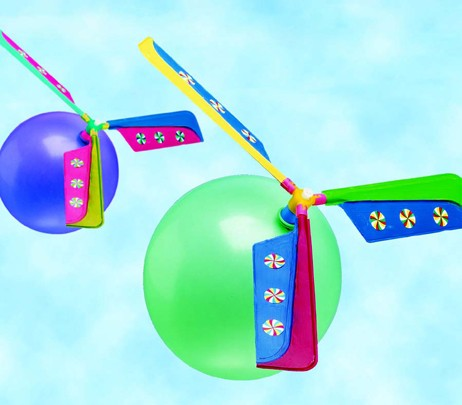 DIY Helicopter Balloon Craft