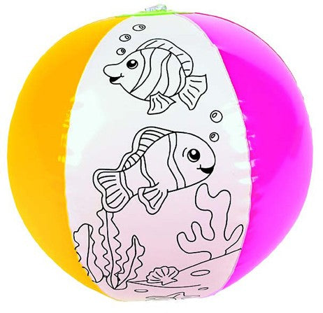 Color Your Own Inflatable Fish Beach Ball craft