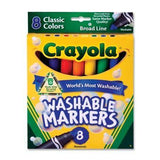 Crayola Washable Markers Classic Colors 8 pack