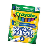 Crayola Washable Markers Bold Colors 8 pack